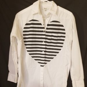 Madewell button up blouse Sz XS White